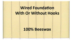 Deep Wax Foundation Wired without Hooks