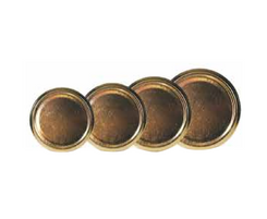 Gold Jar Lids - 12 pack