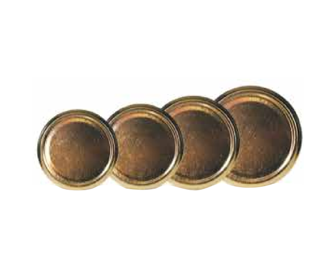 Gold Lid Covers for Glass Honey Jar - 12 pack