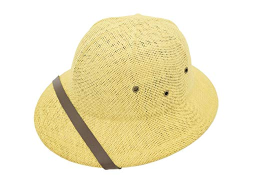 Vintage Safari Vented Helmet Tan/Brown Hat