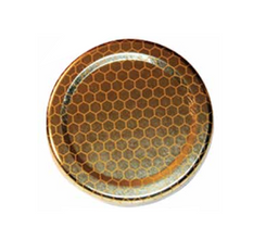 Honeycomb Printed Jar Lids - 12 pack