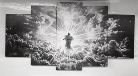 Jesus is Coming Limited Edition Grayscale Canvas Print Example