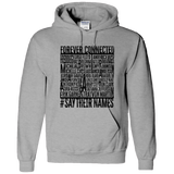 Forever Connected, Say Their Names, BLM Adult Hoodie-Ethnic Swag