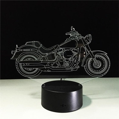 Motorcycle 3D Lamp Visual Light Touch Switch & Remote Control Night Light