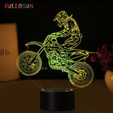 3D Motocross Bike Night Light LED - Cool Tees and Things