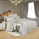 4/6Pcs Royal Luxury Golden Bedding Sets. Satin Jacquard Bed Sheet Set. Duvet Cover - Cool Tees and Things
