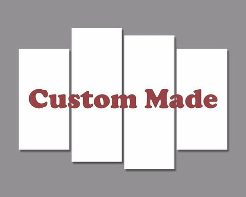 4 Panel Custom Canvas Prints-20cmx40cmx2pcs, 20cmx55cmx2-Not Framed-Red/Blue/Yellow/Green/Purple/Black/Brown-Cool Tees & Things