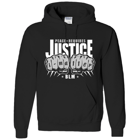 BLACK LIVES MATTER, PEACE,SOCIAL JUSTICE ADULT HOODIE- ETHNIC SWAG