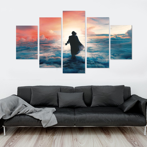 Jesus Is Coming- Dawn of a New Day-5-Panel-Medium-Not Framed-Salmon-Cool Tees & Things