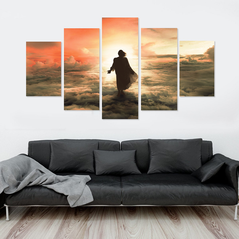 Jesus Is Coming- Bronze Last Judgement-5-Panel-Medium-Not Framed-Coral-Cool Tees & Things