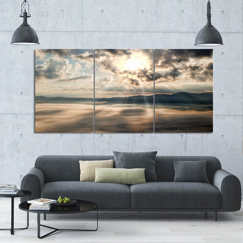 The Awakening-Wallart 3 Piece Vertical Rectangle-Medium - Not framed-Gray-Cool Tees & Things
