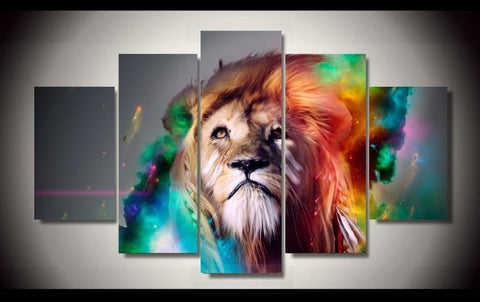 Abstract Lion-Medium-Not Framed-Cool Tees & Things