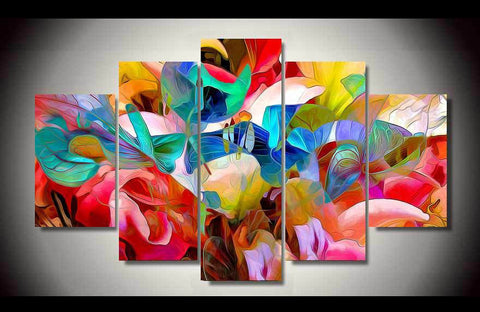 Abstract Vibrant Flowers-Medium-Framed-Cool Tees & Things