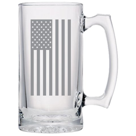 American Flag Beer Mug- Laser Etched