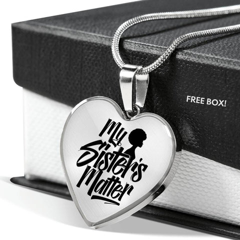 My Sister's Matter Heart Pendant- Cool Tees and Things