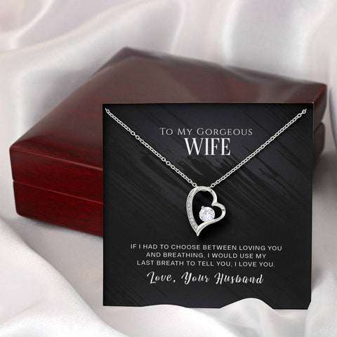 To My Gorgeous Wife- Forever Love Necklace- Cool Tees and Things