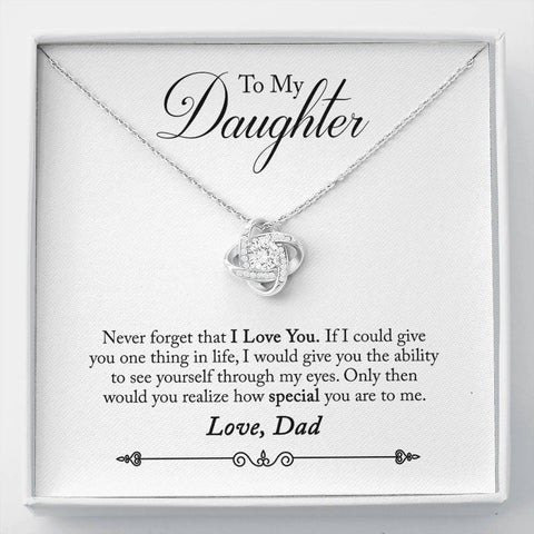 To My Daughter-Love Knot Necklace-Cool Tees and Things