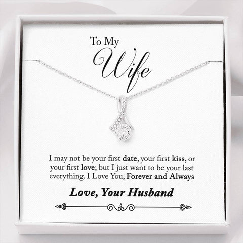 TO MY WIFE FROM YOUR HUSBAND- PENDANT  COOL TEES AND THINGS