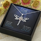 To My Daughter- Dragonfly Necklace- Cool Tees and Things