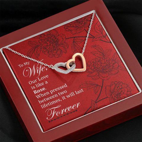 To My Wife- Interlocking Hearts Necklace