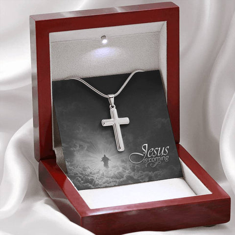 Jesus is Coming Cross Necklace- Cool Tees and Things