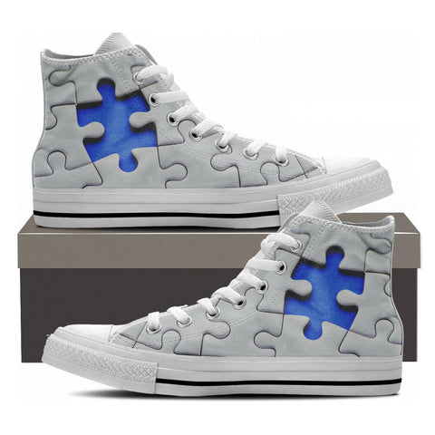 Autism Awareness High Tops - Cool Tees and Things