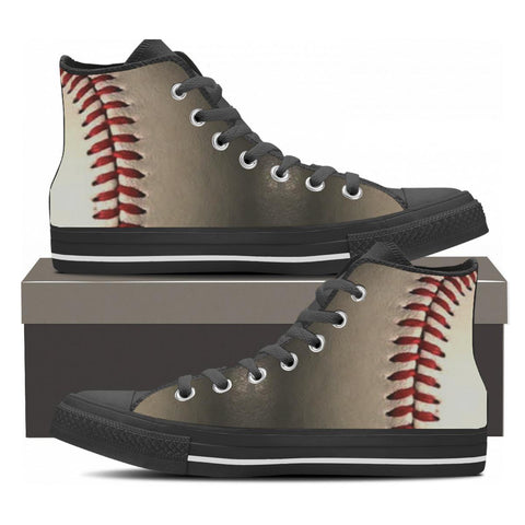Baseball High Tops - Cool Tees and Things