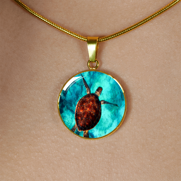 Beautiful Sea Turtle Pendant Jewelry - Cool Tees and Things