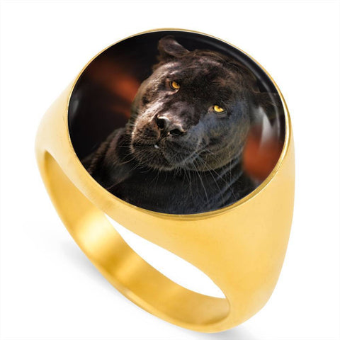Black Panther Luxury Ring - Cool Tees and Things