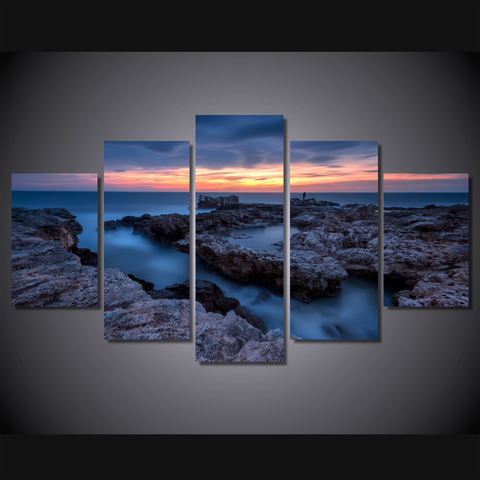 Black Sea Sunrise-Medium-Not Framed-Cool Tees & Things