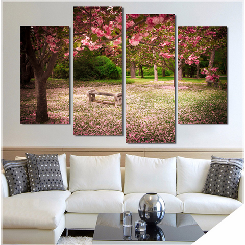 Blooming Cherry Blossoms-Medium-Not Framed-Cool Tees & Things