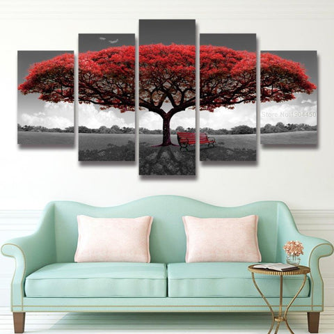 Blooming Red Tree - Cool Tees and Things