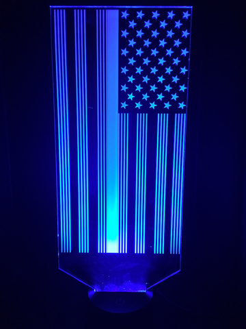 Blue line American Flag Led Night Light - Cool Tees and Things