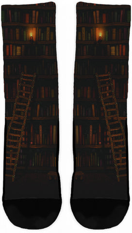 BOOK LOVERS CREW SOCKS - Cool Tees and Things