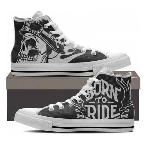 Born To Ride High Tops - Cool Tees and Things
