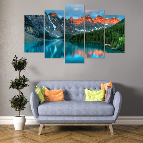 Breathtaking Moraine Lake Canvas - Cool Tees and Things