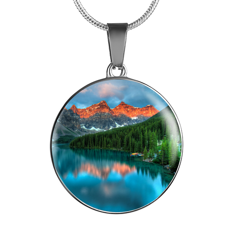 Breathtaking Moraine Lake Pendant and Bangle Jewelry - Cool Tees and Things