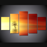 Breathtaking Sunset-Medium-Not Framed-Red/Orange/Yellow-Cool Tees & Things