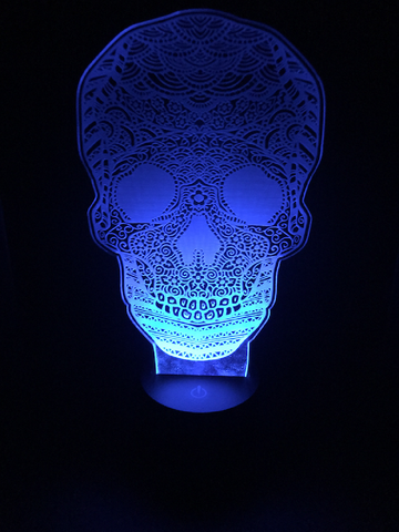 Calavera Skull Led Night Lights