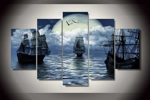 Caribbean Sailing Canvas Nautical Prints - Cool Tees and Things