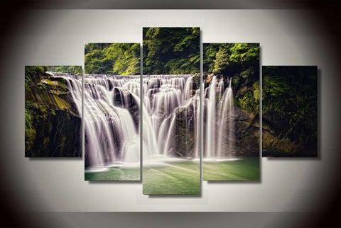 Cascading Waterfall-Medium-Not Framed-Cool Tees & Things
