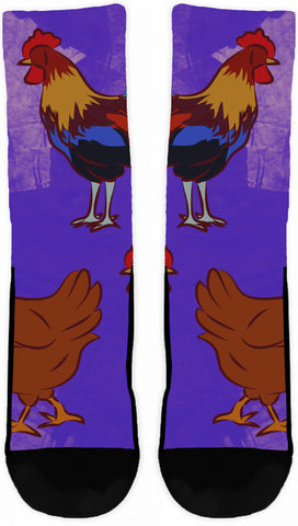 CHICKENS CREW SOCKS - Cool Tees and Things