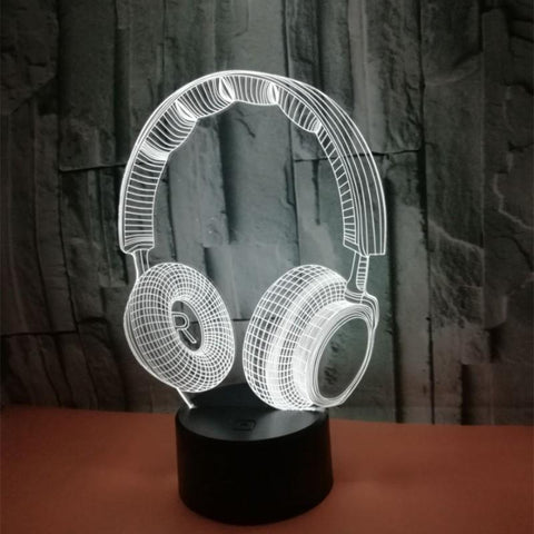 Colorful Touch Headphones 3D Night Light