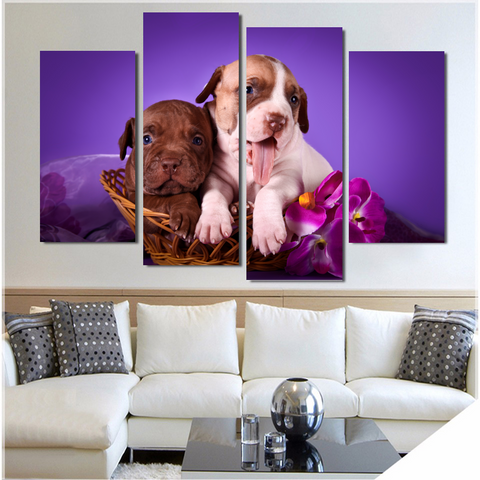 Cuddly Pit Bull Pups-Medium-Not Framed-Cool Tees & Things