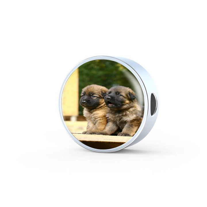 Cute German Shepherd  Bracelet and Circle Charm Jewelry - Cool Tees and Things