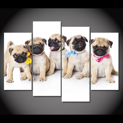 Cute Pug Puppies-Medium-Not Framed-Cool Tees & Things