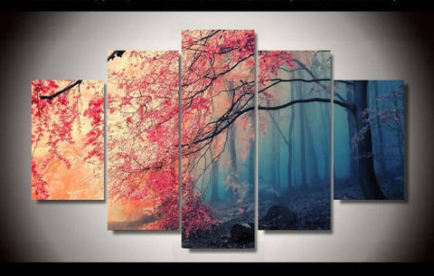 Dawn to Dusk Tree Canvas-Medium-Not Framed-Cool Tees & Things