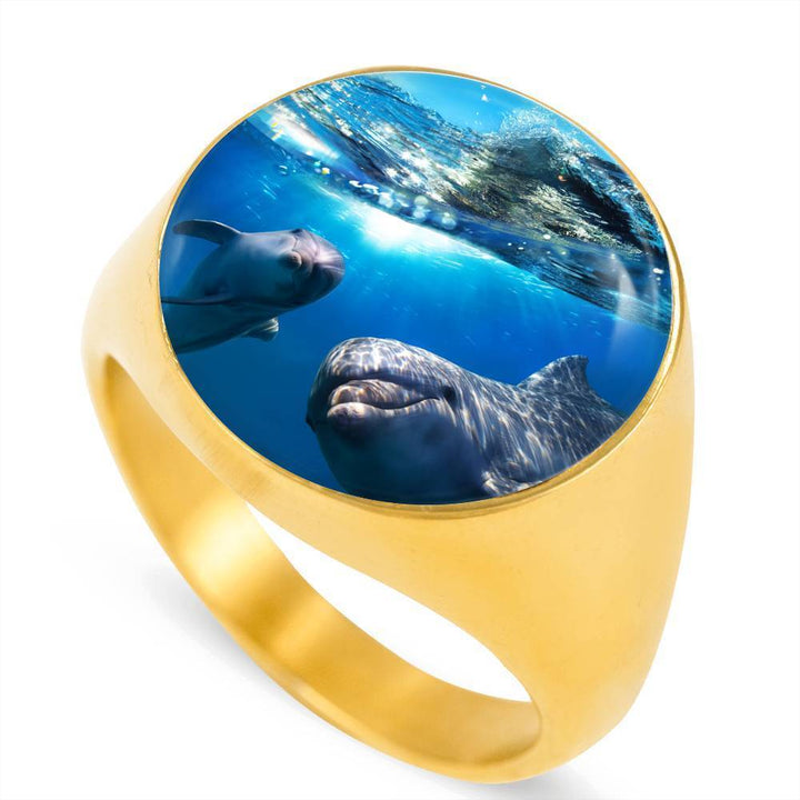 Dolphin Friends Luxury Ring - Cool Tees and Things