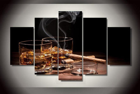 Drinks N Cigars-Medium-Not Framed-Cool Tees & Things