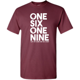 One Six One Nine, 1619, Black Lives Matter Adult Unisex Standard Tee